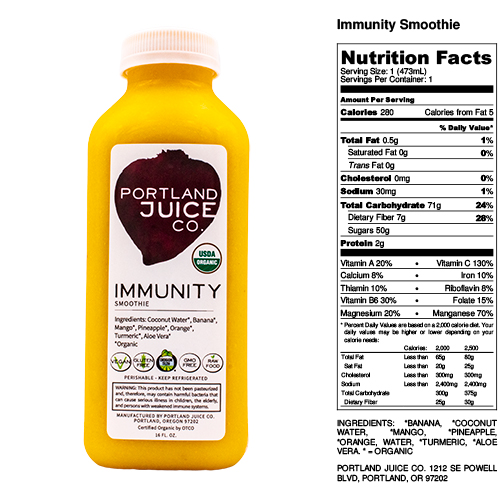 Certified Organic Immunity Smoothie