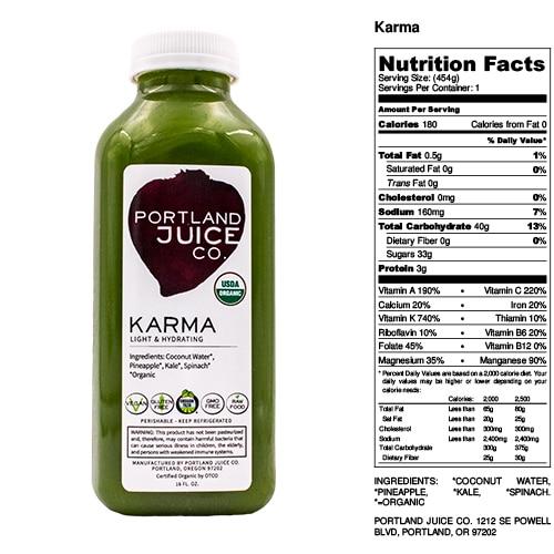 Certified Organic Karma Green Juice