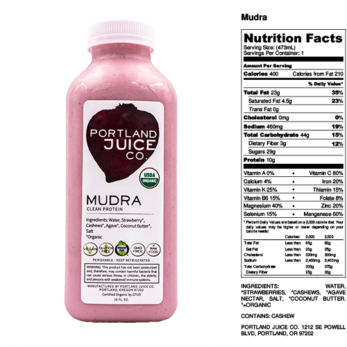 Certified Organic Mudra Strawberry Cashew Milk Nut Mylk