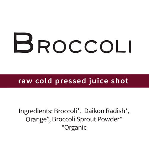 Broccoli Shot broccoli sprouts daikon radish sulforaphane cruciferous vegetables enzyme myrosinase glucoraphanin